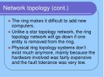 network topology cont8