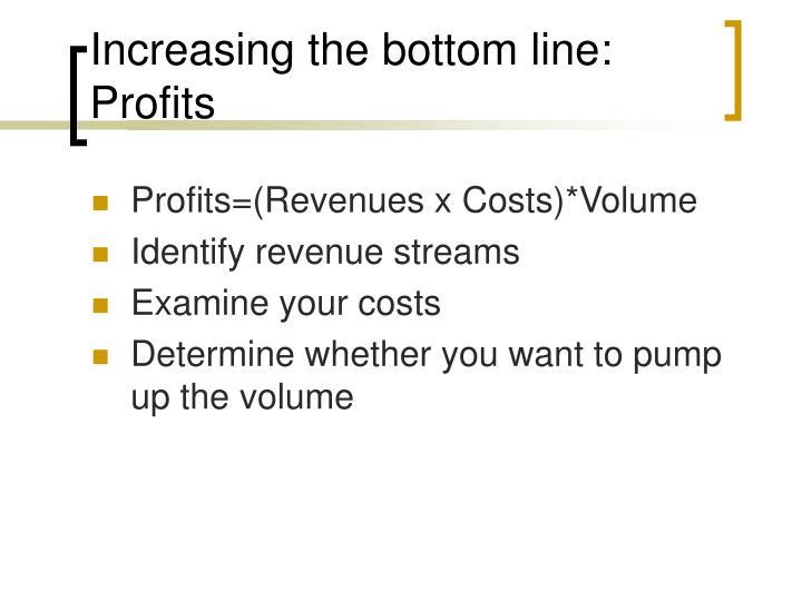Increasing the bottom line: Profits