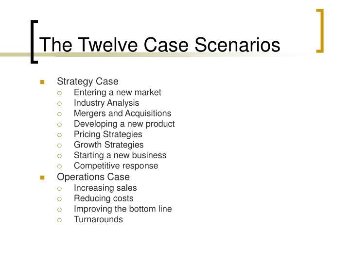 The Twelve Case Scenarios