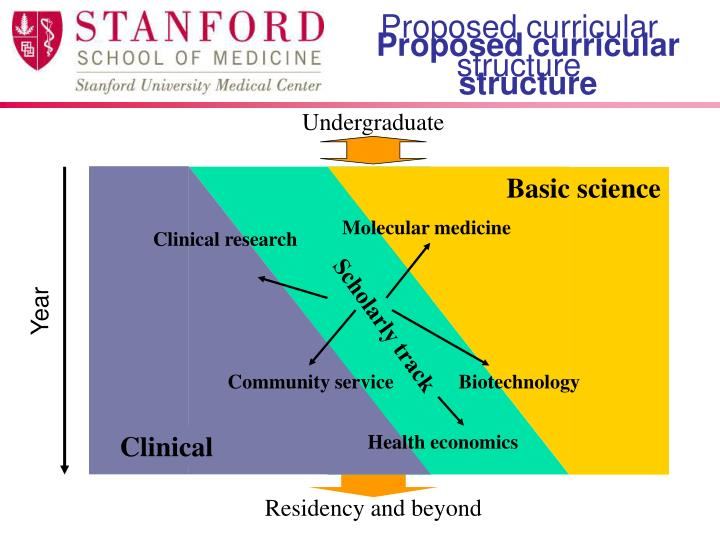 Proposed curricular structure