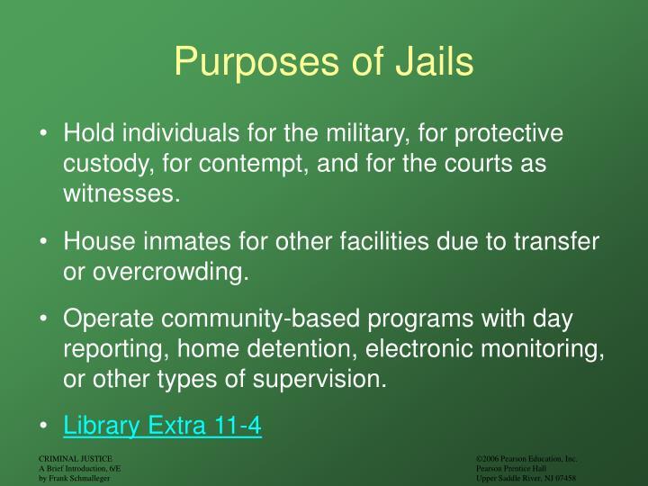 Purposes of Jails
