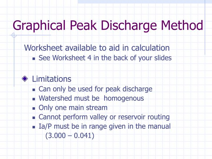 Graphical Peak Discharge Method
