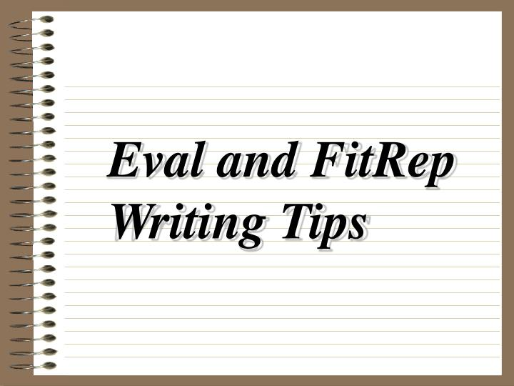 Eval and FitRep