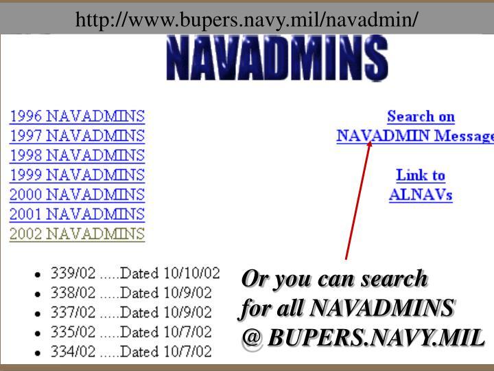 http://www.bupers.navy.mil/navadmin/