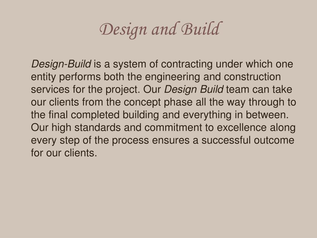 Design and
