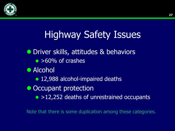 Highway Safety Issues