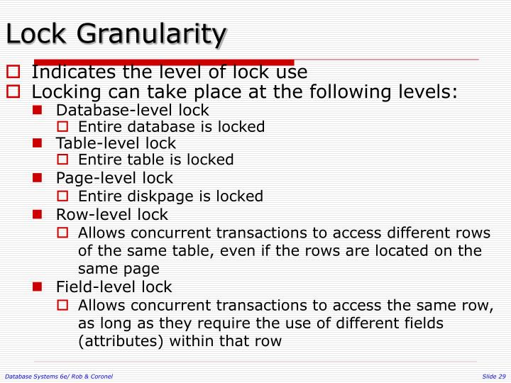 Lock Granularity