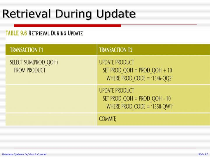 Retrieval During Update