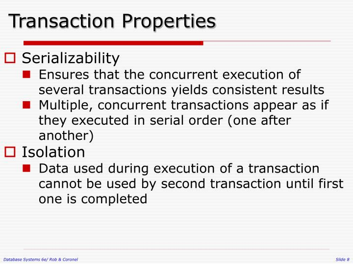 Transaction Properties
