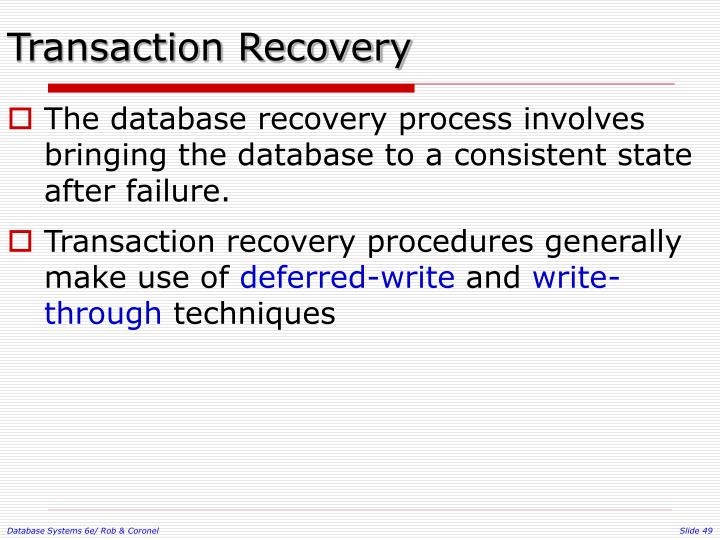 Transaction Recovery