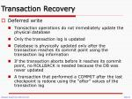 transaction recovery1