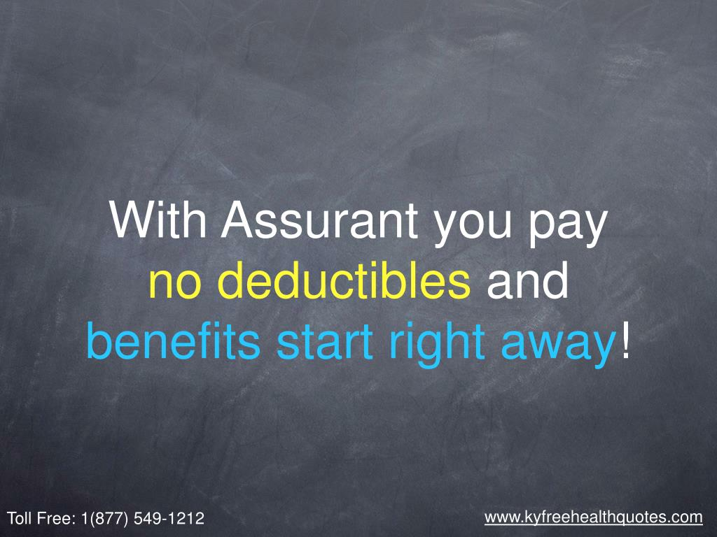 With Assurant you pay