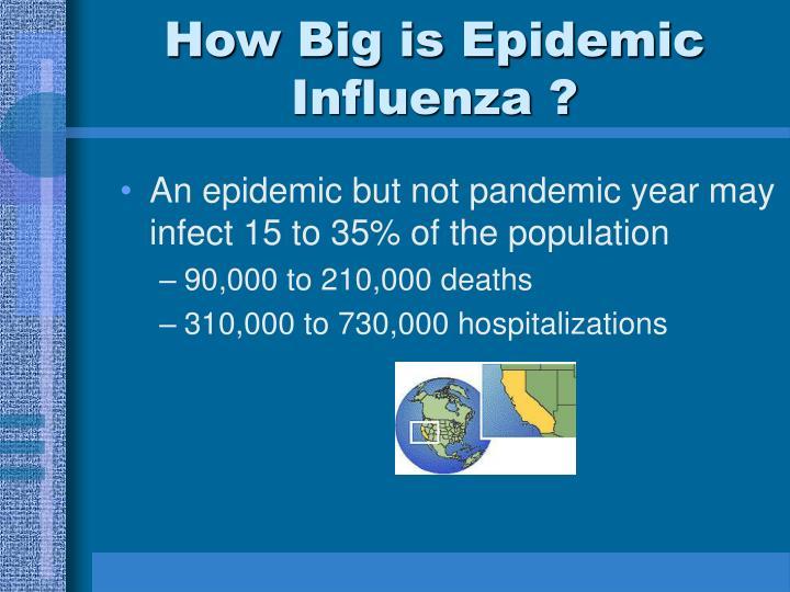 How Big is Epidemic Influenza ?