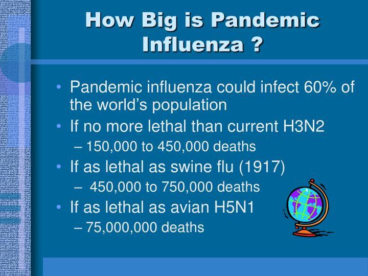 How Big is Pandemic Influenza ?