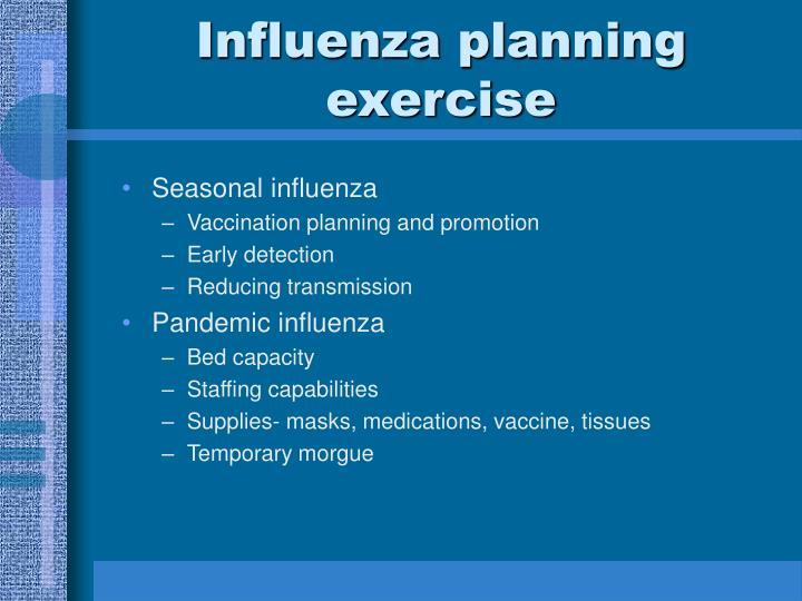 Influenza planning exercise