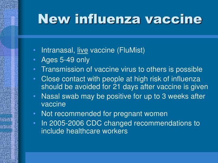 New influenza vaccine
