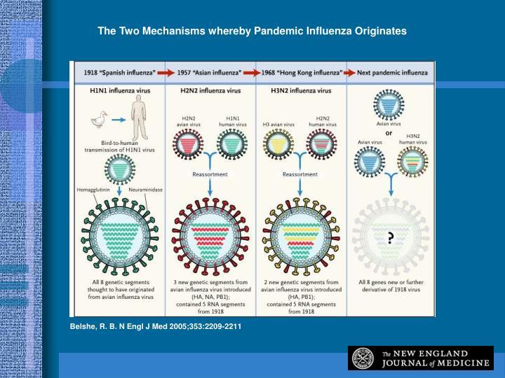 The Two Mechanisms whereby Pandemic Influenza Originates