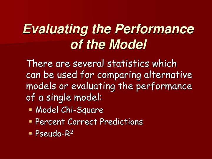 Evaluating the Performance of the Model