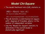 model chi square