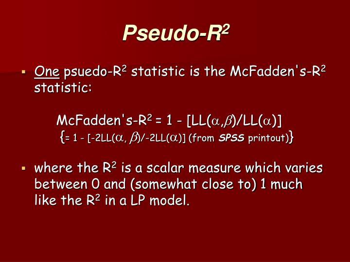 Pseudo-R
