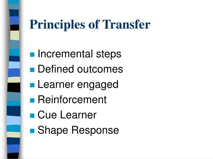 Principles of Transfer