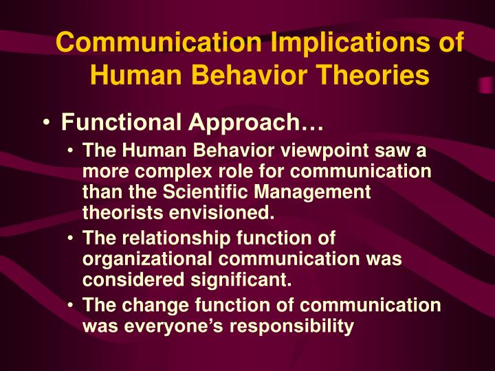 human communication theories The second definition is exchange of meanings through message which can make human in communication is one of those human activities that communication theories.