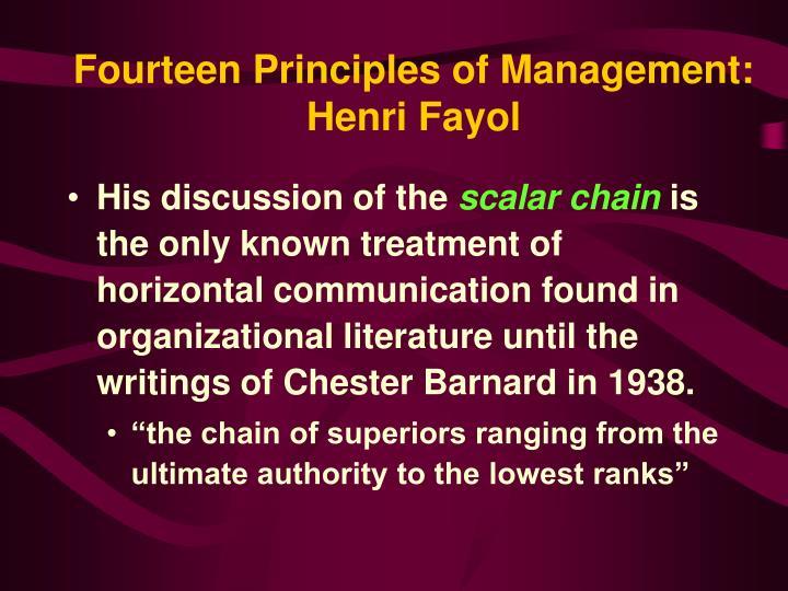 Fourteen Principles of Management: Henri Fayol