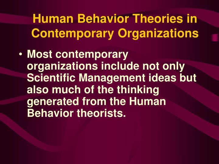 Human Behavior Theories in Contemporary Organizations