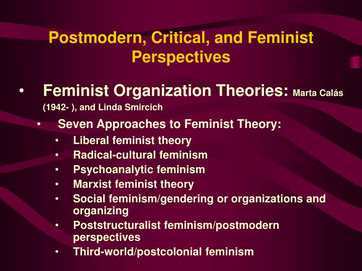 Postmodern, Critical, and Feminist Perspectives