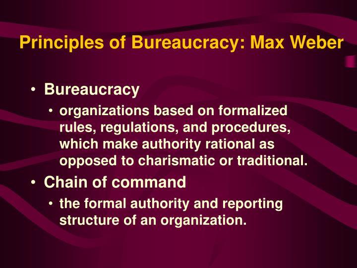 Principles of Bureaucracy: Max Weber