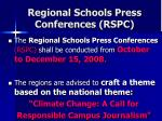regional schools press conferences rspc