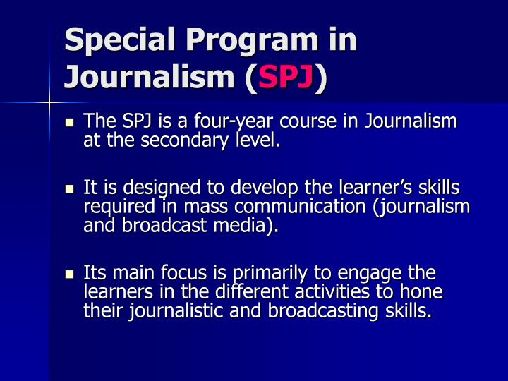 Special Program in Journalism (