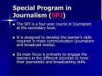 special program in journalism spj