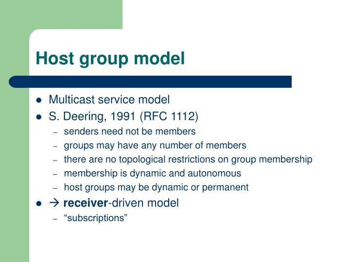 Host group model