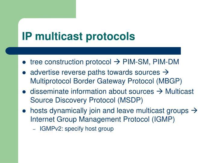 IP multicast protocols