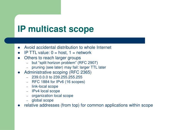 IP multicast scope
