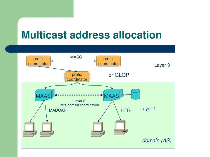Multicast address allocation
