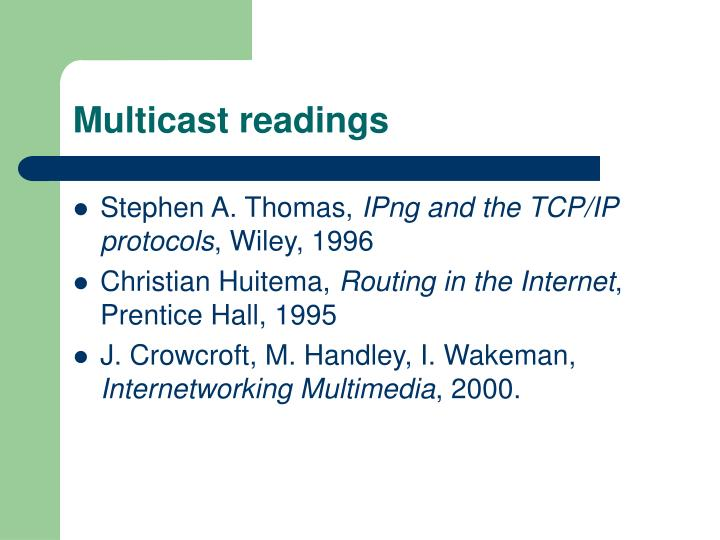 Multicast readings
