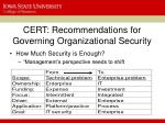 cert recommendations for governing organizational security2