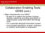collaboration enabling tools gdss cont