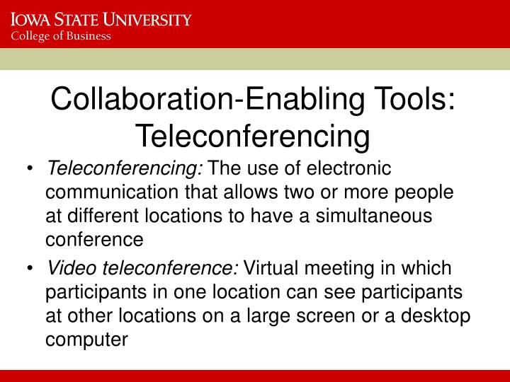Collaboration-Enabling Tools: