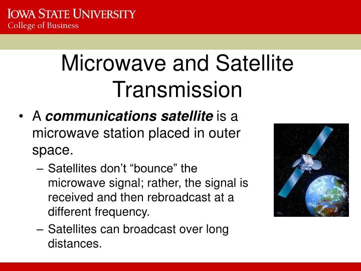 Microwave and Satellite Transmission