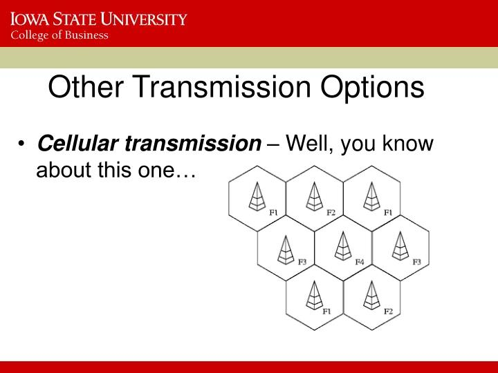 Other Transmission Options