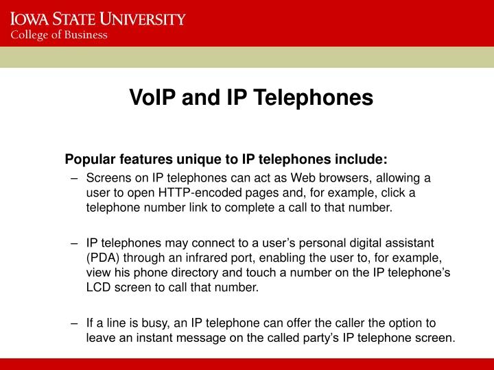 VoIP and IP Telephones