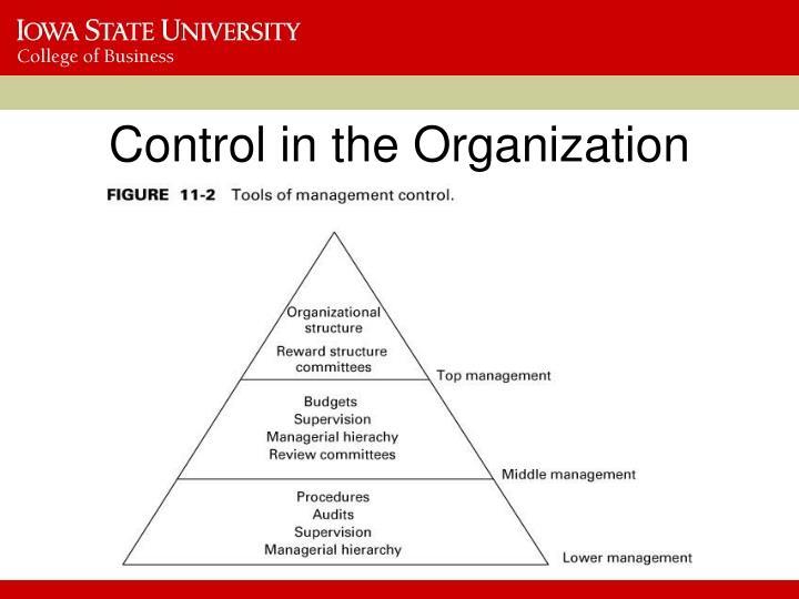 Control in the Organization