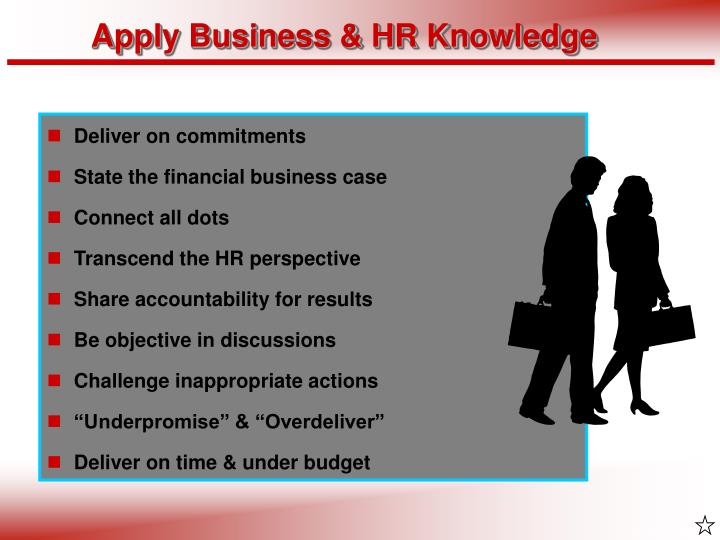 Apply Business & HR Knowledge