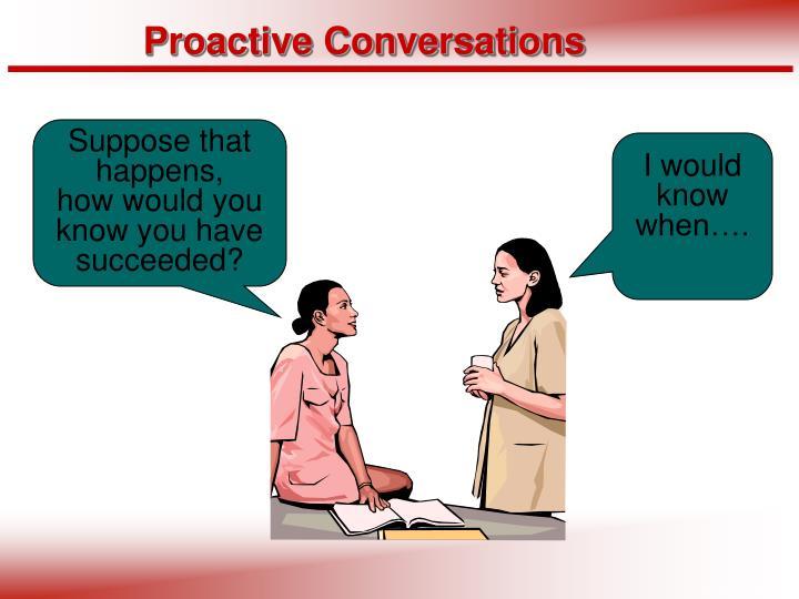 Proactive Conversations