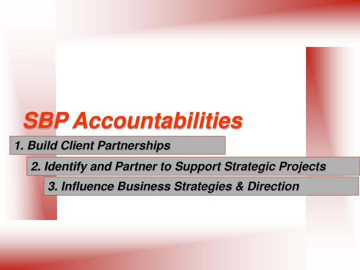 SBP Accountabilities