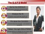 the g a p s model