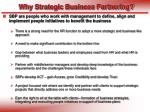 why strategic business partnering